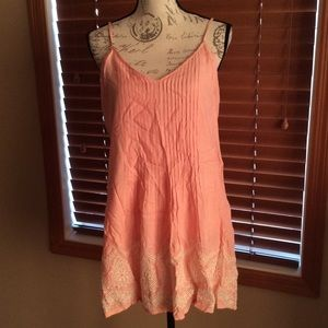 NWT Sanctuary Embroidered Pintuck Slip Dress